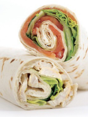 Wraps saumon